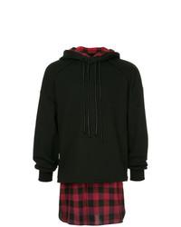 Sudadera con capucha en rojo y negro de Juun.J