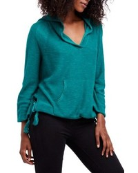 Sudadera con capucha en verde azulado