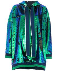 Sudadera con capucha en verde azulado de Mira Mikati