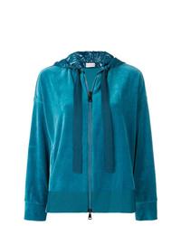 Sudadera con capucha en verde azulado de Moncler
