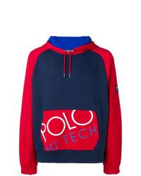 Sudadera con capucha estampada azul marino de Polo Ralph Lauren