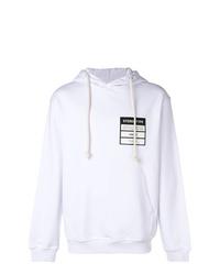 Sudadera con capucha estampada blanca de Maison Margiela