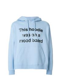 Sudadera con capucha estampada celeste de House of Holland