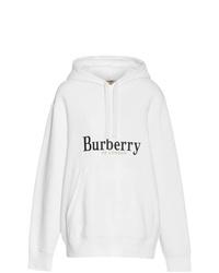 Sudadera con capucha estampada en blanco y negro de Burberry