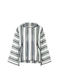 Sudadera con capucha estampada en blanco y negro de Tory Burch