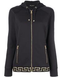 Sudadera con capucha estampada en gris oscuro de Versace