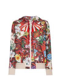 Sudadera con capucha estampada en multicolor de Gucci