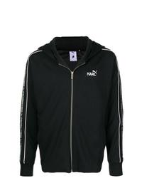 Sudadera con capucha estampada en negro y blanco de Puma