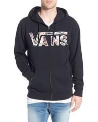 Sudadera con capucha estampada en negro y blanco de Vans
