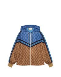 Sudadera con capucha estampada en tabaco de Gucci