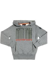 Sudadera con capucha estampada gris de North Sails