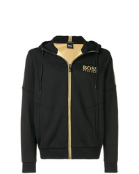 Sudadera con capucha estampada negra de BOSS HUGO BOSS