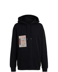 Sudadera con capucha estampada negra de Burberry