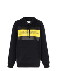Sudadera con capucha estampada negra de Calvin Klein Jeans Est. 1978