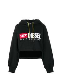 Sudadera con capucha estampada negra de Diesel