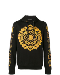 Sudadera con capucha estampada negra de Versace
