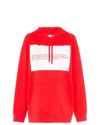 Sudadera con capucha estampada roja de Calvin Klein Jeans Est. 1978