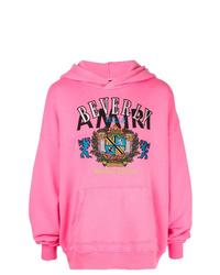 Sudadera con capucha estampada rosa de Amiri