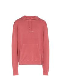 Sudadera con capucha estampada rosa de Saint Laurent