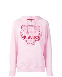 Sudadera con capucha estampada rosada de Kenzo