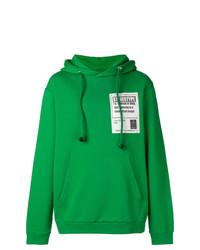 Sudadera con capucha estampada verde de Maison Margiela