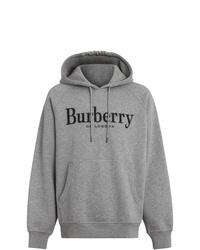 Sudadera con capucha gris de Burberry