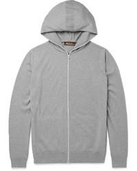 Sudadera con capucha gris de Loro Piana