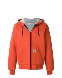 Sudadera con capucha naranja de Carhartt