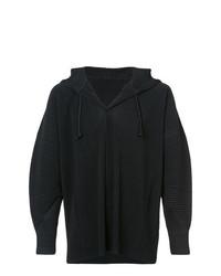 Sudadera con capucha negra de Homme Plissé Issey Miyake