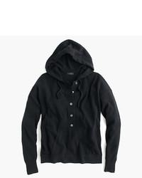 Sudadera con capucha negra de J.Crew