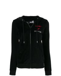 Sudadera con capucha negra de Love Moschino