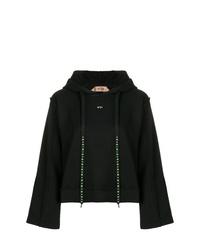 Sudadera con capucha negra de N°21