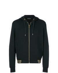 Sudadera con capucha negra de Versace