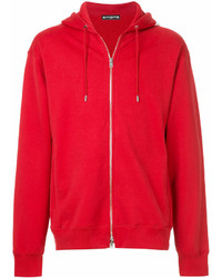 Sudadera con capucha roja
