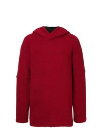 Sudadera con capucha roja de Strateas Carlucci