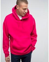 Sudadera con capucha rosa