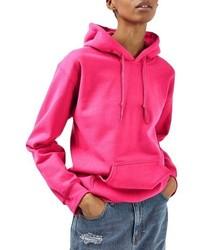 Sudadera con capucha rosa de Topshop