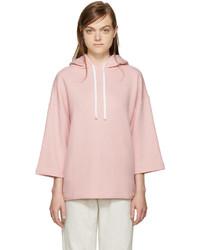 Sudadera con capucha rosada