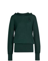 Sudadera con capucha verde oscuro de Burberry
