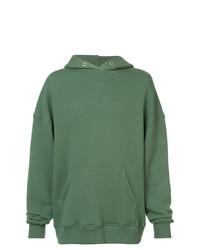 Sudadera con capucha verde de 424