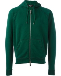 Sudadera con capucha verde de DSQUARED2