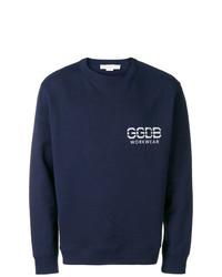 Sudadera estampada azul marino de Golden Goose Deluxe Brand