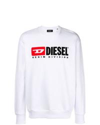 Sudadera estampada blanca de Diesel