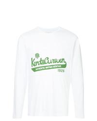 Sudadera estampada blanca de Kent & Curwen