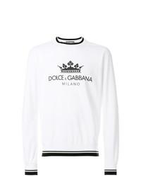 Sudadera estampada en blanco y negro de Dolce & Gabbana