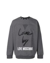 Sudadera estampada en gris oscuro de Love Moschino