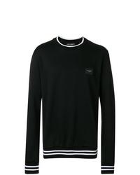Sudadera estampada en negro y blanco de Dolce & Gabbana