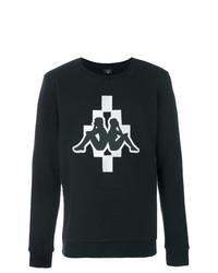 Sudadera estampada en negro y blanco de Marcelo Burlon County of Milan