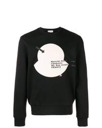 Sudadera estampada en negro y blanco de Moncler