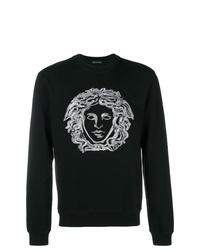 Sudadera estampada en negro y blanco de Versace